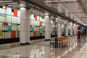 Платформа станции метро Румянцево