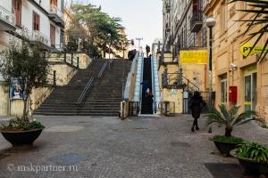 Интерактивный эскалатор в Неаполе