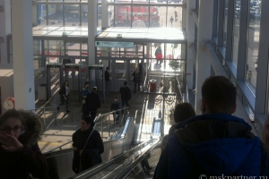 Выход из вестибюля МЦК Бульвар Рокоссовского