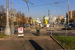 Дорога к МЦК Панфиловская от станции метро Октябрьское поле