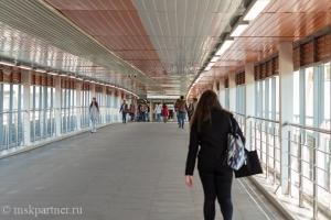 Коридор, ведущий к платформе МЦК Панфиловская