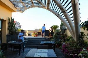 Терраса в отеле Неаполя Una