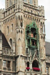 Новая ратуша, достопримечательности Мюнхена, часы Глокеншпиль